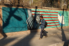 Who care you?? (Go Go Janet) Tags: travel mural iran streetphotography tehran ironic lightsandshadow