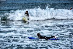 Sin titulo (Andrs Gonzlez M.) Tags: barcelona sea beach landscape mar spain nikon surf playa paisaje olas hdr surfista 18105mm d7100