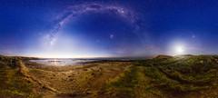 Waipara Dawn (robjdickinson) Tags: ocean sea newzealand lighthouse beach way stars ooak pano panoramic astro astrophotography milky southland zodiak gigapan rjdlandscapes