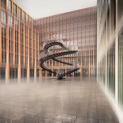 Stairway to.... (Robert Mehlan - Munich) Tags: city art architecture germany munich mnchen square bayern outdoor kunst fineart dream stadt architektur kpmg gebude bewegungsunschrfe traum 500x500 canon5dmkii tse17mmf4l