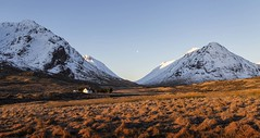 white house 2 (Bowz999) Tags: snow mountains sunrise landscape bay scotland glencoe moor rannoch milarrochy
