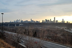 Chester Hill Lookout (Marcanadian) Tags: city winter toronto ontario canada skyline march downtown cityscape hill lookout chester valley parkway don ravine dvp broadview 2016