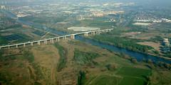 Barton in 2003. (North Ports) Tags: 2003 bridge manchester canal high ship motorway aerial pre level infrastructure gateway barton scheme salford msc wester m60 irlam davyhulme wgis