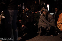 Polykastro gas station (Eniola Itohan) Tags: refugees police gasstation greece hungerstrike polykastro