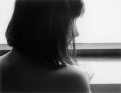 -F- (Mikah_Manansala) Tags: portrait film monochrome backlight nude polaroid ishootfilm 180 instant analogue ilovefilm fp3000b filmforever