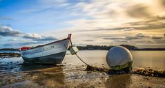 Le long de la rance. (f.ray35) Tags: sunlight france canon long exposure sable bretagne rivière contraste bateau et ille rance britany vilaine poselongue polarisant