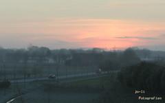 Kurz vor Sonnenaufgang am Nordring in Ahaus (joli_2009) Tags: nrw landschaft sonnenaufgang ahaus münsterland windräder landstrase