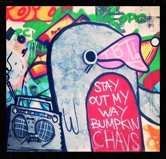 Bumpkin Chavs (Livesurfcams) Tags: pasteup banksy wallart devon spraypaint ghettoblaster robbo artgraffitispraycanpainttagsteroghettoblaster
