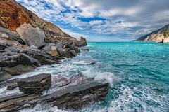 La Baia Di Lord Byron (marypink) Tags: sea sky clouds mare liguria cielo portovenere scogliera nikond800 nikkor1635mmf40 baialordbyron