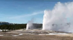 Beehive Geyser-Old Faithful Geyser dual eruption (3:51-3:54 PM, 4 March 2016) 3 (James St. John) Tags: old volcano hill group basin upper yellowstone wyoming dual geyser eruptions erupt beehive eruption hotspot erupting faithful erupts concerted