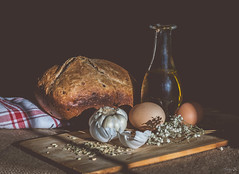 Sunday sunbeams (Vanili11) Tags: light stilllife food sun bread healthy eggs sunbeams homemadebread natutal