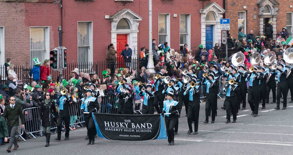 HAGERTY HIGH SCHOOL MARCHING HUSKIES [DUBLIN 2016 PATRICK'S DAY PARADE]-112554