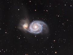 M51 - The Whirlpool Galaxy (AllAboutRefractors) Tags: ritcheychretien cff refractor astrometrydotnet:status=solved 250rc tec180 astrometrydotnet:id=nova1478776