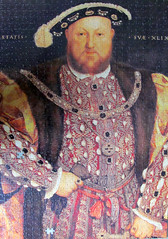 Henry VIII, 1540 by Hans Holbein the Younger (pefkosmad) Tags: charity portrait art shop painting king hobby tudor puzzle monarch leisure jigsaw ruler henryviii sovereign pastime kinghenryviii holbein hansholbein missingpieces hansholbeintheyounger 2piecesmissing peonypress annesspublishingltd