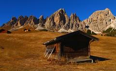 Passo Gardena _MG_9550m(3) (maxo1965) Tags: logcabin dolomites mountainridge trentinoaltoadige passogardena grancir