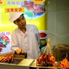 Shanghai skewers (vhines200) Tags: china chicken restaurant shanghai meat streetfood 2012 skewers