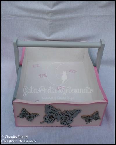 """Cesta e caixa de recordações de bebé """"Soft Butterflies"""""""