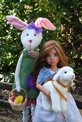 8. A Whimsical Easter Story (Little little mouse) Tags: bjd dollfie easterbunny tansy homemadedress kayewiggs tanlaryssa steifflindalamb