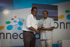 Microsoft Innovation Awards Winner in the Tourism Category is Enchanted Landscapes. Presented to Henry Muuthia