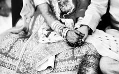 Holding hands (krissen) Tags: wedding blackandwhite bw india monochrome hands patterns varanasi henna indien mehndi banaras brllop indianwedding 16vtindien