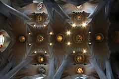 La Sagrada Familia #5 (just.Luc) Tags: barcelona spain basilica columns catalonia ceiling espana catalunya lasagradafamilia espagne spanje plafond basilique antonigaudi basiliek kolommen cataloni