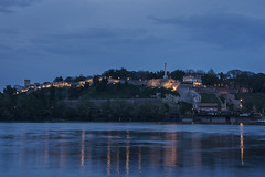Blue hour - Kalemegdan, Belgrade (nenadlatkovic) Tags: travel blue sunset history river dawn lights evening nikon outdoor walk explore hour belgrade fortress beograd sava kalemegdan arhitecture explored tvrdjava d5200 18105vr riverlovers