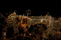 Dubai at night (Tim Peake) Tags: night palms dubai