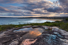 What is left of a rainy day (FPL_2015) Tags: ocean sunset seascape water reflections landscape rocks sydney australia northernbeaches northcurlcurl leefilter canon6d gnd09 canon1635f4lis