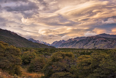 Brushstrokes (Russmosis) Tags: trees sunset patagonia mountains southamerica nature argentina landscape day cloudy valley glaciers elchalten