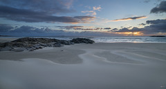 Sunset - D8D_9247 (Viggo Johansen) Tags: sunset sea sky beach norway clouds coast sand waves rogaland hellest hellestbeach