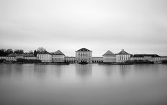 Royal Symmetry (DILLEmma Photography) Tags: sky blackandwhite bw ice monochrome reflections munich bavaria blackwhite exposure palace filter minimalism schloss nymphenburg