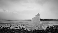 Ice cube (Tiph Haine) Tags: blackandwhite bw white france ice canon french landscape eos is iceland wb l usm fullframe amateur f4 franais islande jkulsrln lightroom 6d 24105 llens 24105mm canonef24105mmf4lisusm llenses canon6d canonfrance canoneos6d pleinformat