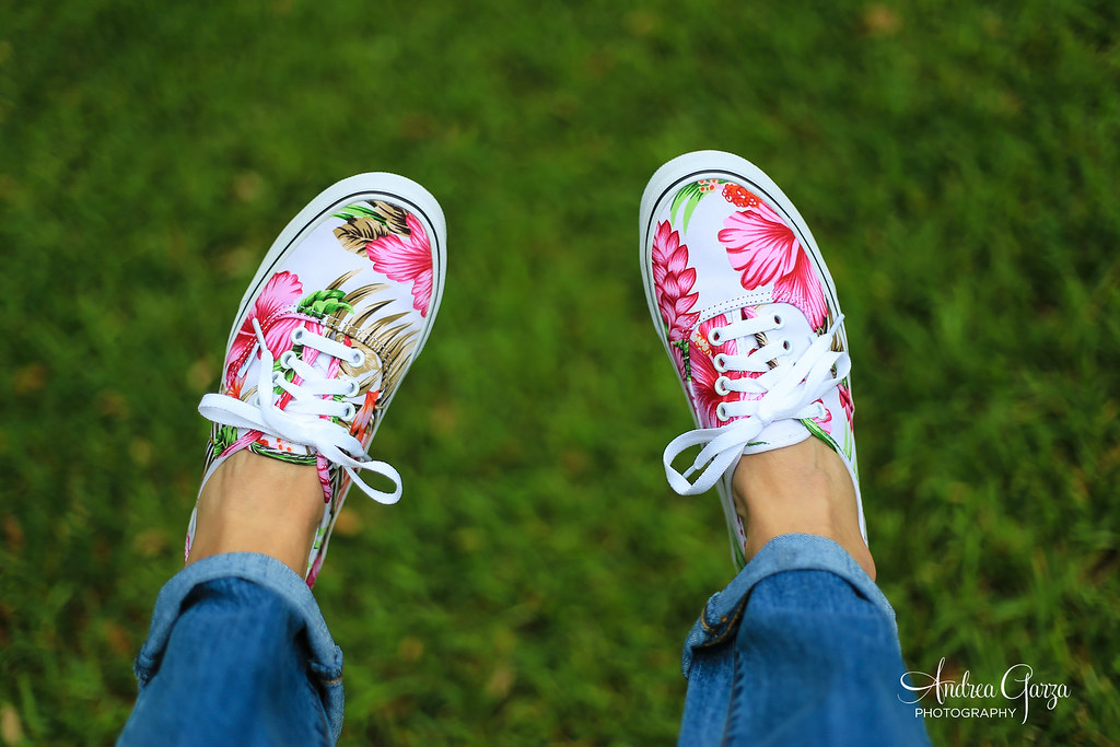 66c153076638fa Hawaiian Vans - New Kicks (Andrea Garza ~) Tags  flowers summer cute floral