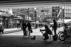Berlin Alexanderplatz (Fliwatuet) Tags: bw berlin alex germany de deutschland blackwhite panasonic alexanderplatz sw monochrom ostern mitte m43 mft schwarzweis em5 20mm17 olympusomd