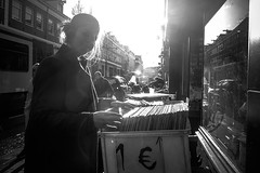 (Jeff Krol) Tags: street light urban blackandwhite bw netherlands girl monochrome dutch amsterdam mono noir noiretblanc candid sony nederland streetphotography flare blanc straat 2016 straatfotografie hollandblackandwhite jeffkrol dscwx300 20151128dsc02218