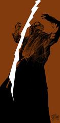 17/4 Los hijos de los das - Galeano ilustrado por Casciani (Andrs Casciani) Tags: illustration digitalart caruso galeano loshijosdelosdas