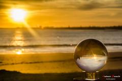 Magic sunset (Antonio Camelo) Tags: sunset sea sky naturaleza sun sol beach nature ball photo sand nikon playa bola puesta naranja