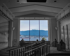Portrait (weiball) Tags: ocean blue sea portrait canada nature vancouver canon river painting landscape photography boat photo downtown bc waterfront sony sfu richmond scenary moutain a7 harbourcentre harbourcenter 70d sonya7 canon70d