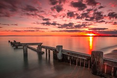 Sunset at Mentone Beach,Melbourne,Australia (Pavel Ryjkov) Tags: sunset sky water outdoor australia shore