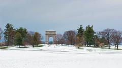 Winter in Spring (Garen M.) Tags: snow tree landscape spring minimalism snowfall valleyforge nikond800 nikkor2470mm28