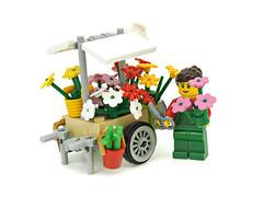 flower cart (de-marco) Tags: city flower town lego latvia minifig cart latvija latlug