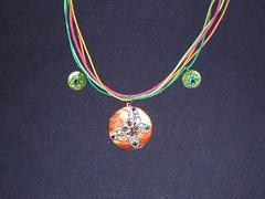 papillon bouton (fabrikarine) Tags: fleur vintage collier bijoux plastic boucle fou cuivre doreille