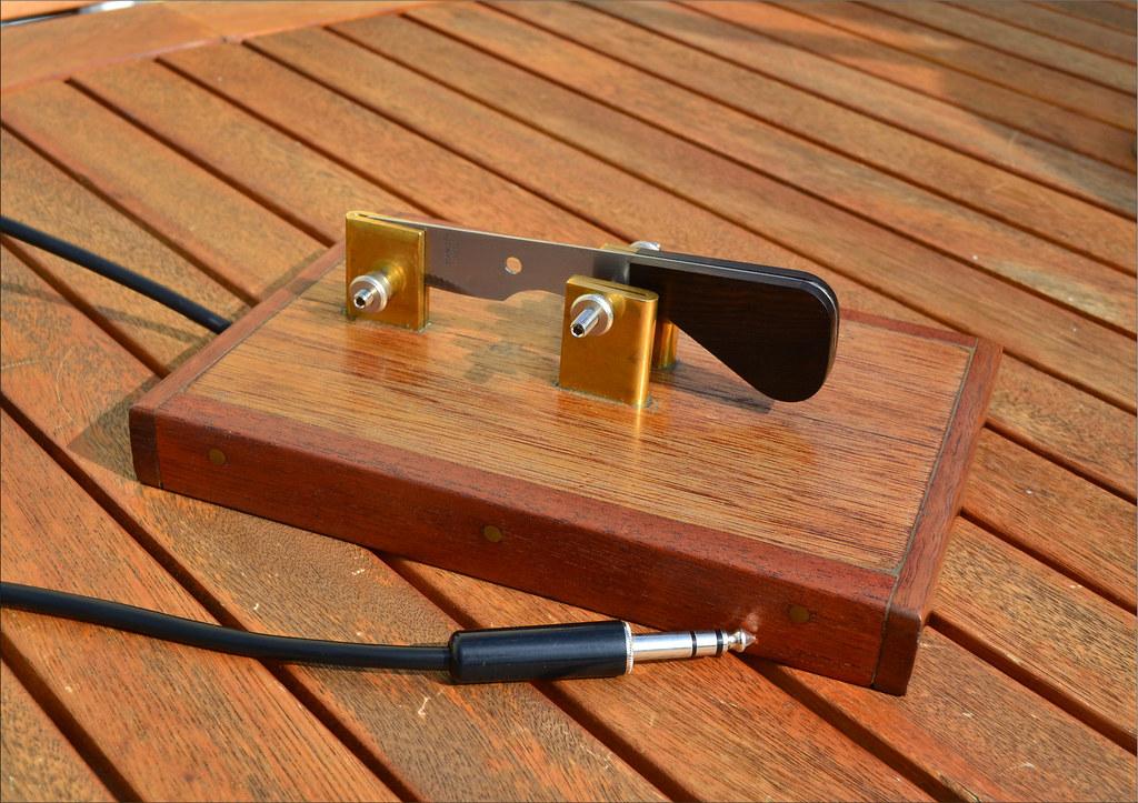Home made CW paddle key morse code (pwllgwyngyll) Tags: home radio vintage  keys
