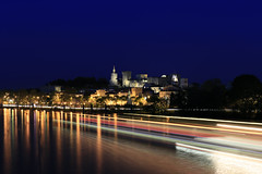 Avignon IMG_9773 (Ludo_M) Tags: voyage city longexposure trip travel france night canon river pose eos noche boat town europa europe cityscape nightscape nightshot nacht dusk rhne rivire unesco worldheritagesite stadt bluehour provence fluss citycenter avignon nuit southoffrance notte ville worldheritage fleuve vaucluse rhone 6d blauestunde poselongue heurebleue canoneos6d ef1635mmf4lisusm
