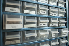 April 18th 2016 - Project 366 (Richard Amor Allan) Tags: screws storage rows drawers fuses bnc bitsandbobs adaptors project366