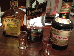 A few liqueurs to finish up a pleasant afternoon and evening meal with Anthony. (spelio) Tags: australia email act ipad 2015