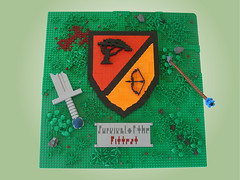 Qinon's Coat of Arms (Mr. Cab) Tags: castle landscape coatofarms lego shield battlefield lom moc foitsop