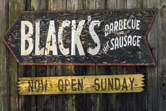 Sign behind Blacks BBQ Lockhart, TX (NBTXN) Tags: texas sausage bbq lockhart texasbbq brisket centraltexas blacksbbq blacksbarbecue