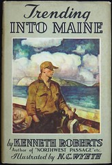"""Trending Into Maine"" by Kenneth Roberts. Boston: Little, Brown & Co., 1938.  First edition. N. C. Wyeth illustrations (lhboudreau) Tags: art illustration painting book fishermen drawing 1938 paintings maine illustrations drawings books wyeth mainefisherman bookart hardcover dustjacket firstedition vintagebook littlebrown ncwyeth vintagebooks hardcovers hardcoverbooks youngfisherman hardcoverbook littlebrownco kennethroberts dustjacketart youngmainefisherman trendingintomaine"