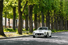 SWB in Paris. (Nino - www.thelittlespotters.fr) Tags: old sun white paris france beautiful wheel vintage landscape sunday sunny ferrari short rare base swb 250gt shortwheelbase 250gtswb